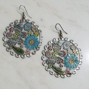 Butterfly in Flowers Earrings